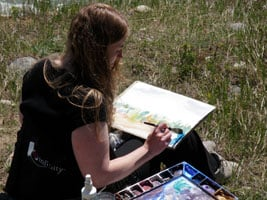 Kendra Dixson (Smith) Painting En Plein Air