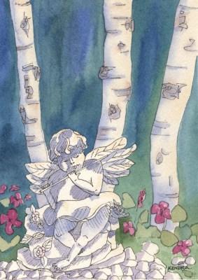 Garden Angel by Kendra Smith