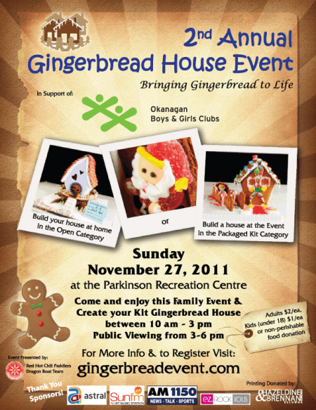 2nd Annual Gingerbread House Event Poster