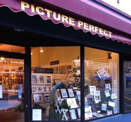 Picture Perfect KendraArt Window Display featuring Kendra Dixson's watercolours
