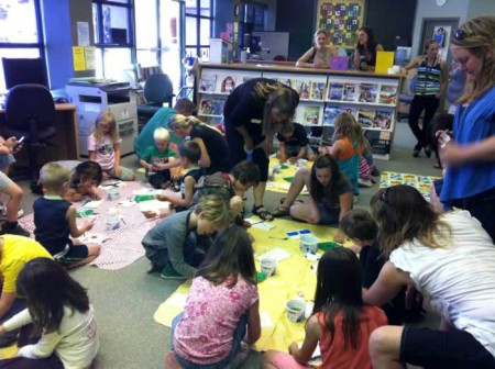 Painting Activity at the Peachland Public Library