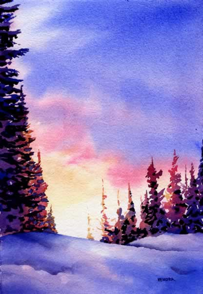 Joyous Light, watercolour by Kendra Dixson, Canadian Artist