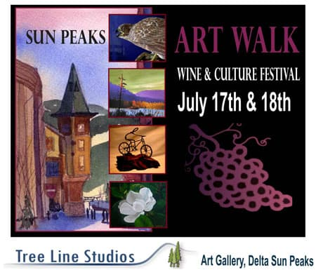 Sun Peaks Wine and Culture Festival Artwalk July 17th and 18th 2010