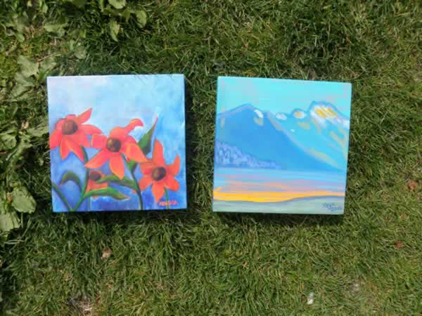 8x8 Acrylic Paintings by Kendra Smith and Keya White
