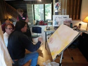 Demo by David McEown at Whistler on the Lake Art Workshop