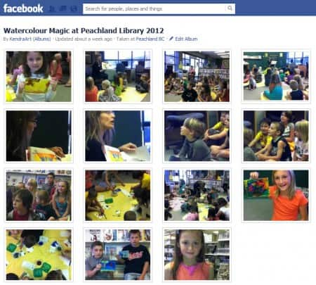 Facebook Album of the Peachland Library painting day.