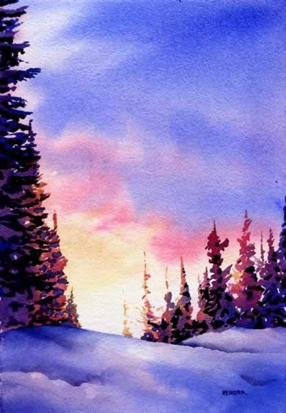 Joyous Light, watercolour by Kendra Dixson, Canadian Artist